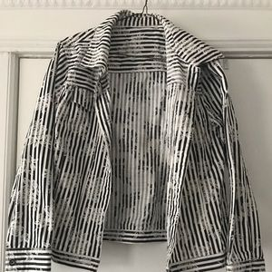 A classy black and white jacket